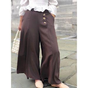 Pants - 🆕Aliah Mocha High Waisted Wide Leg Pants
